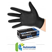 gants d'examen nitrile non poudrés noirs