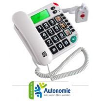 TELEPHONE AVEC TELECOMMANDE SOS