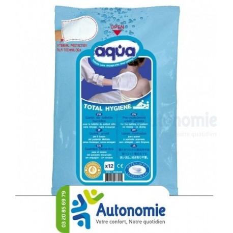 Gant de toilette humide AQUA