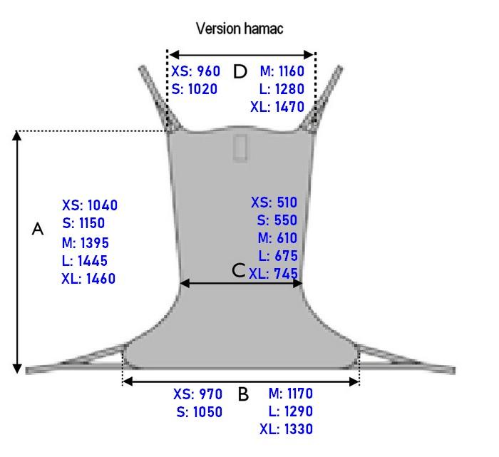 Dimensions sangle hamac avec têtière