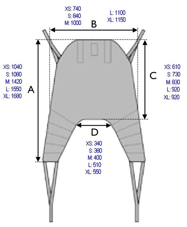 dimensions sangle universelle têtière